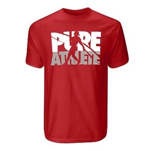 "NWOT Nike Dri-Fit SS T-Shirt ""Pure Athlete"" Red S"